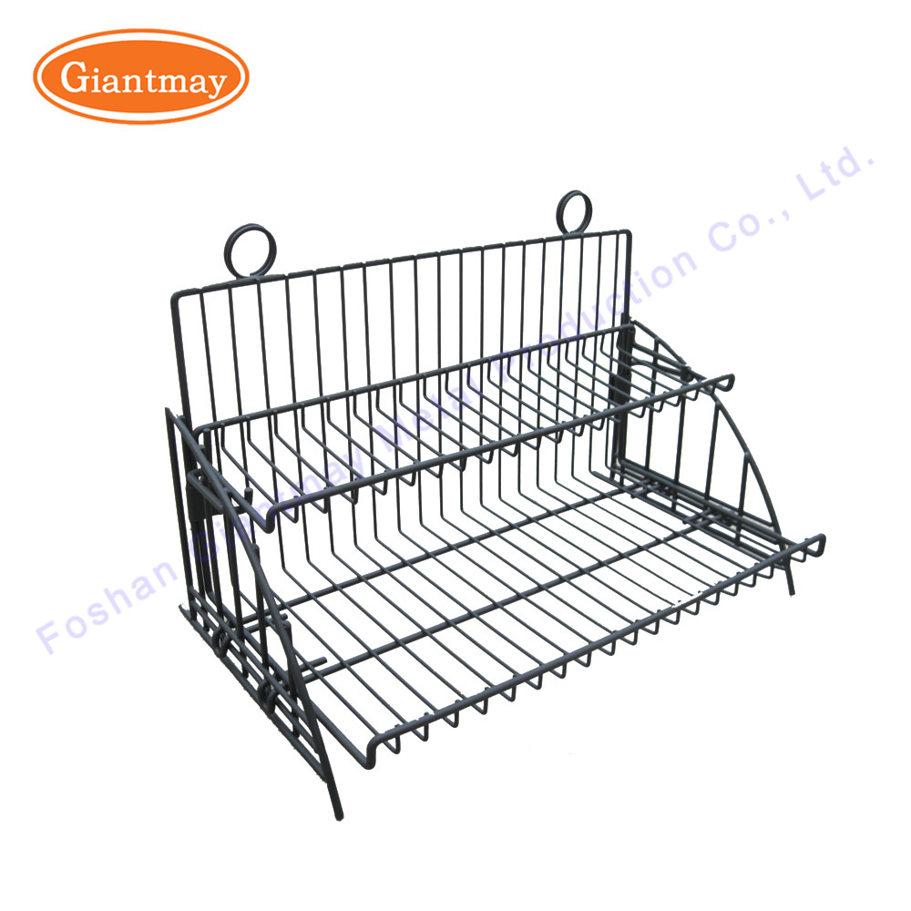 China 2 Tier Counter Metal Wire Basket Display Rack for Snacks ...