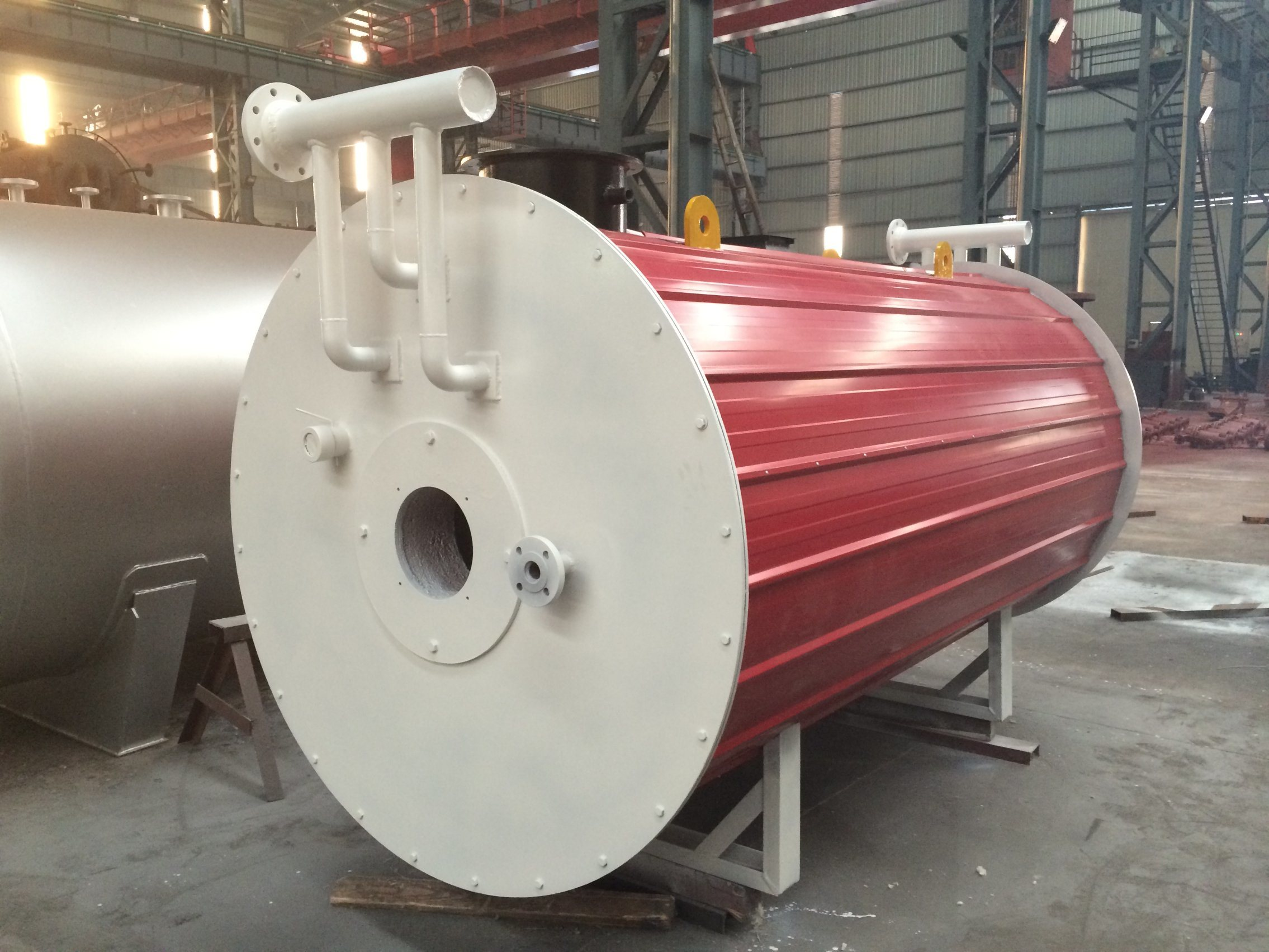 China Oil (gas) Fired Fire-Tube Wet-Back Steam Hot Water Boiler ...