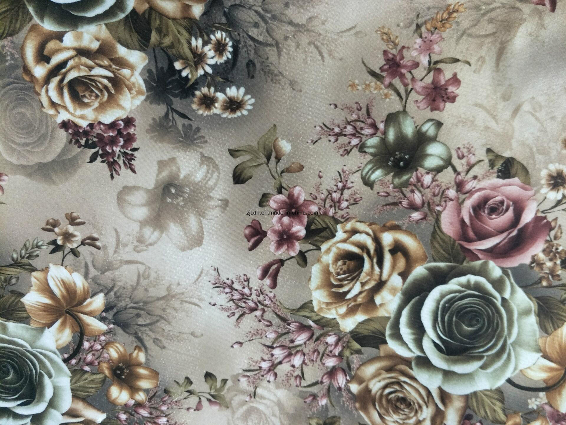 China 100 Polyester Cut Printed Velvet Upholstery Fabric Photos