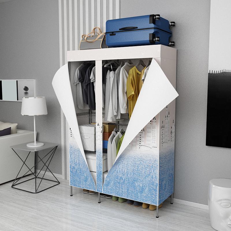 [Hot Item] Bedroom Furniture Design Space Save Garment Rack Metal Wardrobe  Rack Accessories