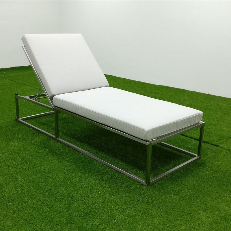 Remarkable Hot Item Garden Line Patio Furniture Stainless Steel Sun Lounger Bralicious Painted Fabric Chair Ideas Braliciousco
