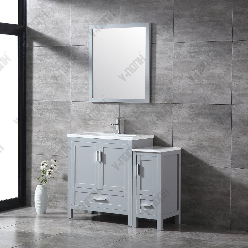 Bathroom Storage Grey Cabinet