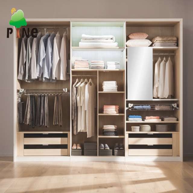 China Open Style Walk-in Closet Designs Bedroom Wardrobe ...