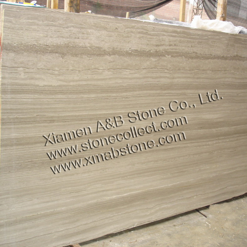 Nice Chinese White Serpeggiante or Light Wooden Veins Marble