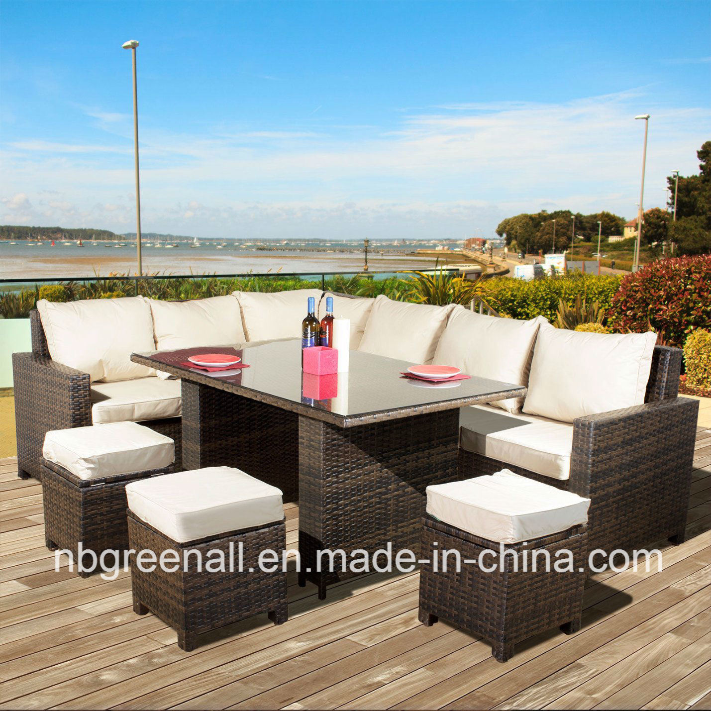 8 Seater Rattan Garden Patio Corner Dining Outdoor Furniture pictures & photos