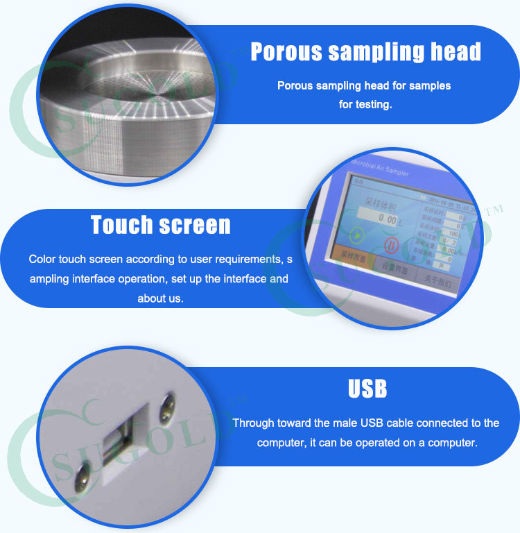 LCD Display Sampling Speed and High Accuracy of a Patented Air Biological Sampler pictures & photos
