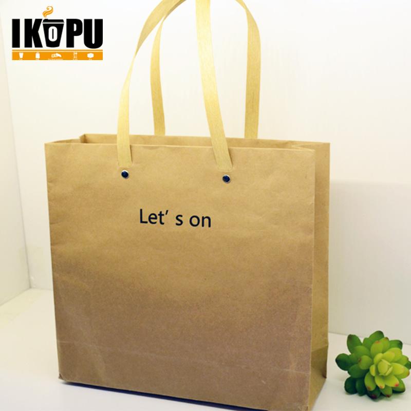 China Wholesale Brown Kraft Paper Bag And Flat Handle