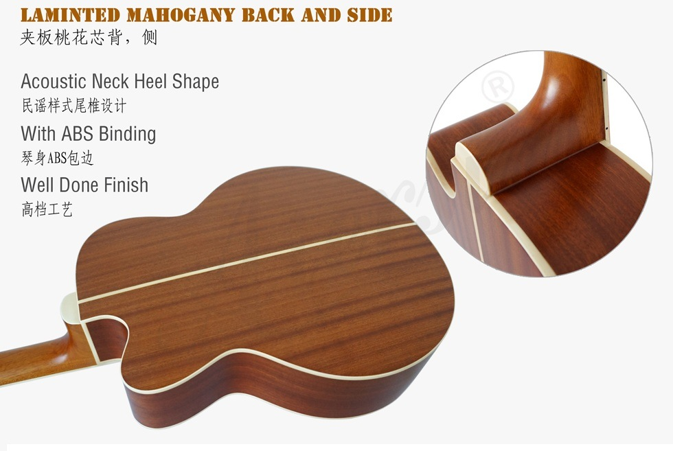 China Aiersi Brand High Quality Electrical 4-String Acoustic Bass (BG01SMCE) pictures & photos