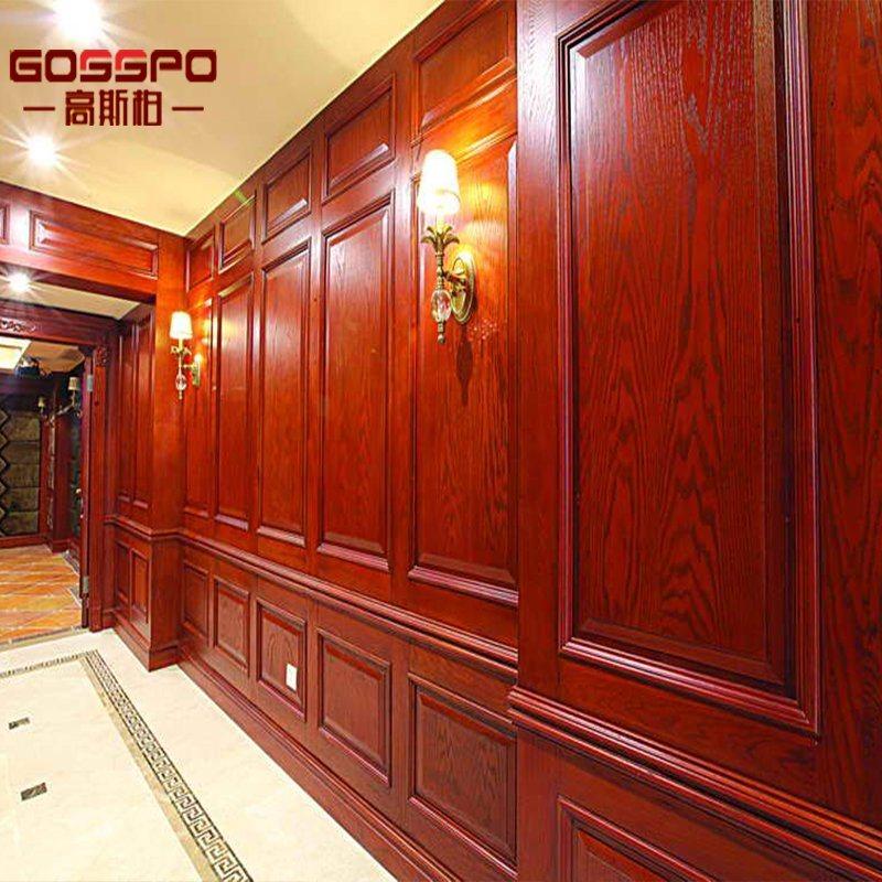 China Villa Luxury Living Room Interior Wood Wall Panel