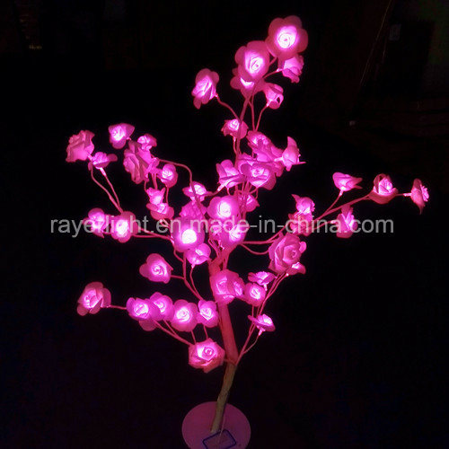 china pink color led artificial rose flower for market bulk