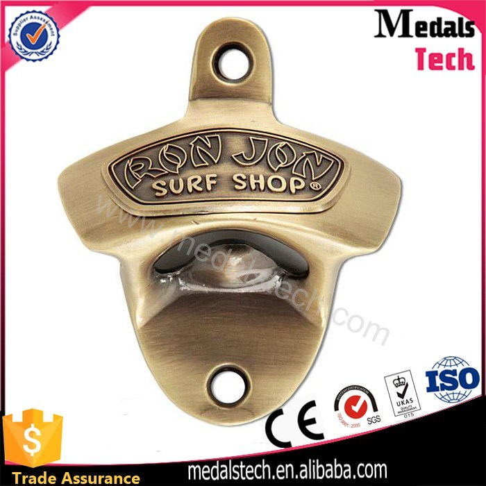 3D Embossed Hongkong Bridge Logo Metal Bottle Opener for Souvenir