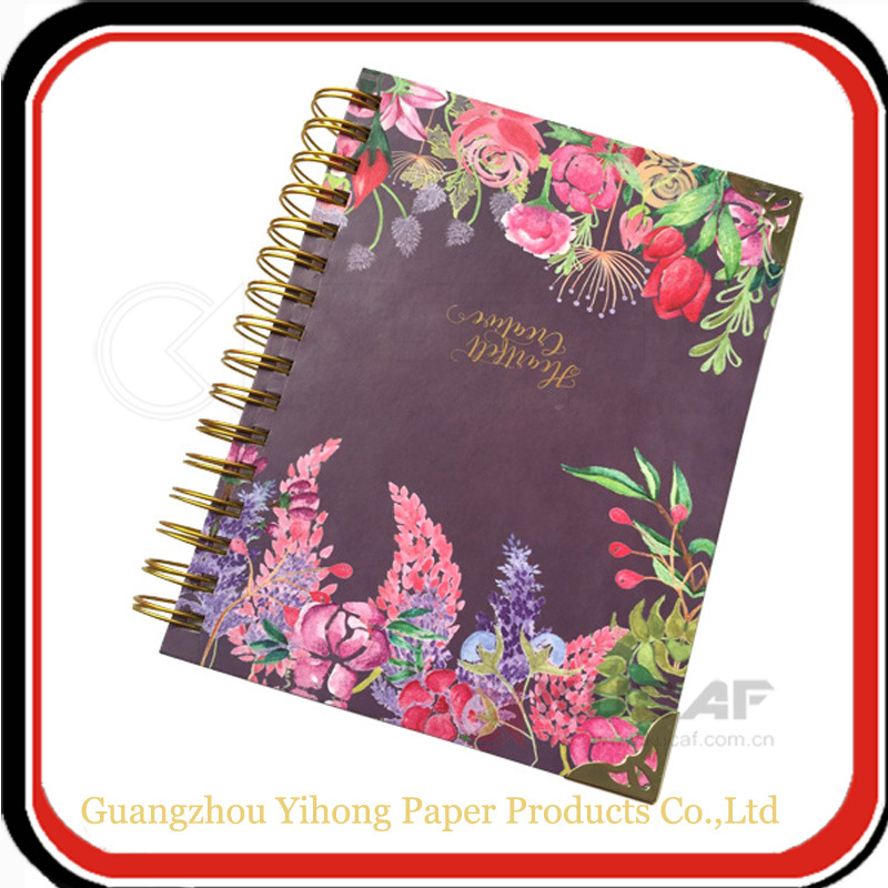 Gold Yo Binding Hardcover Day Planner Notebook with Gold Straper pictures & photos