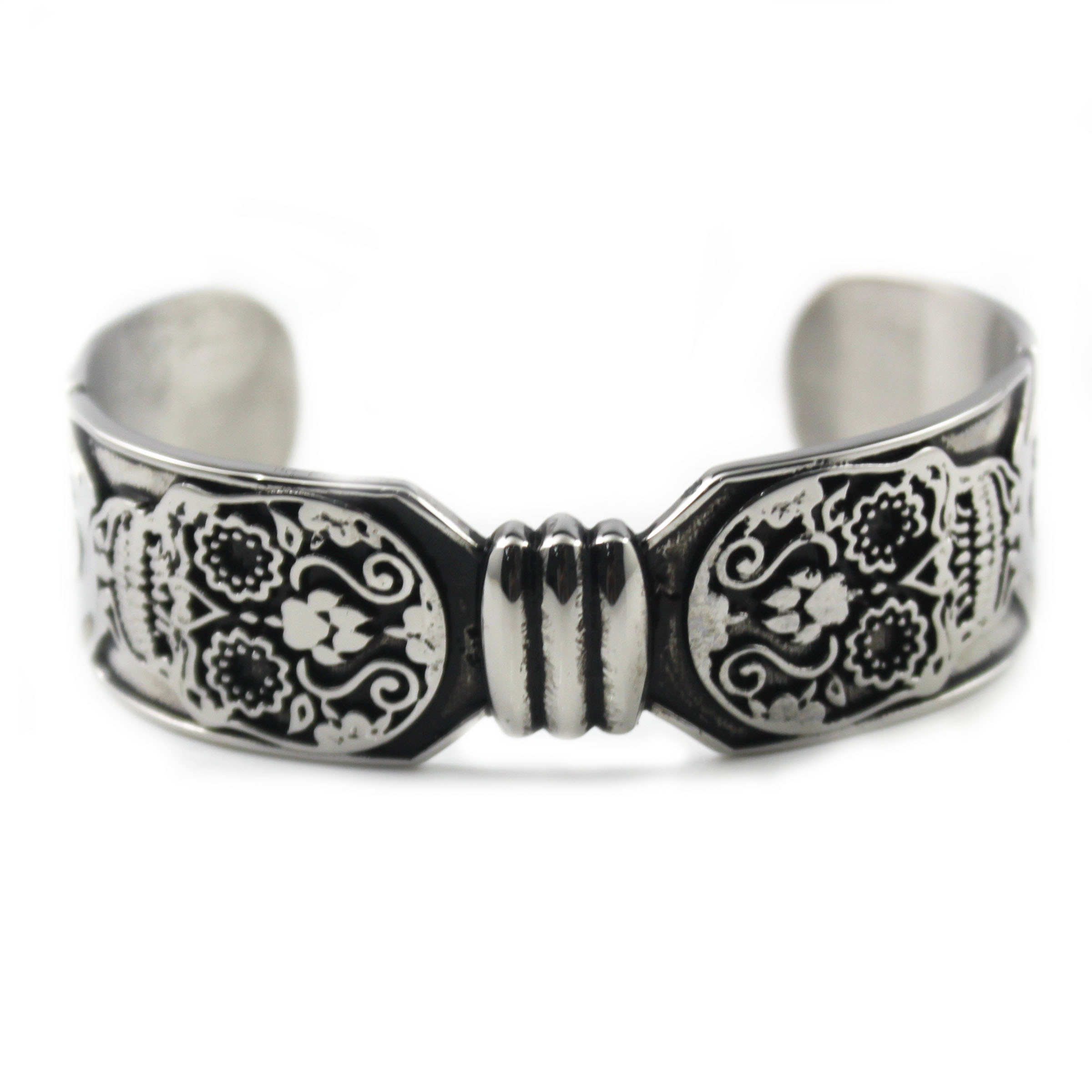 floral vintage product safety silver art deco design sterling clasp bracelet retro