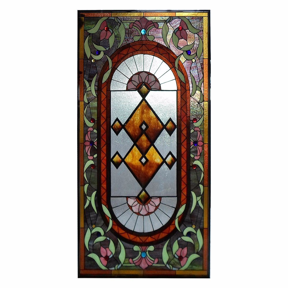 Beautiful Hand Made Church Stained Glass Mosaic Art Deco Window