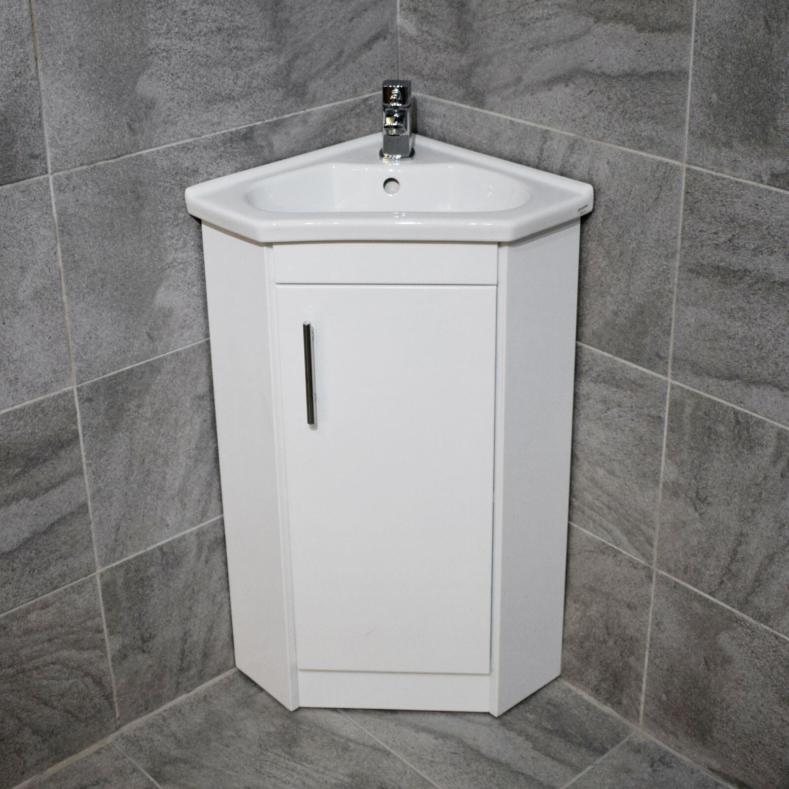 China Corner Vanity Unit Including Basin Sink White Gloss Cloakroom Unit China Corner Vanity Unit Bathroom Furniture