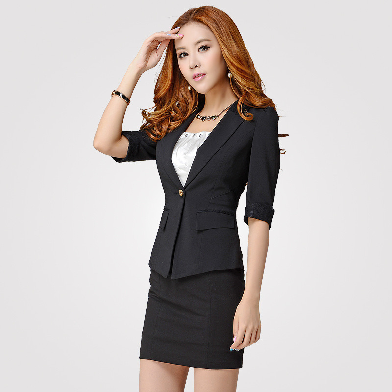 China Women Office Uniform Design Lady Business Formal Suit China