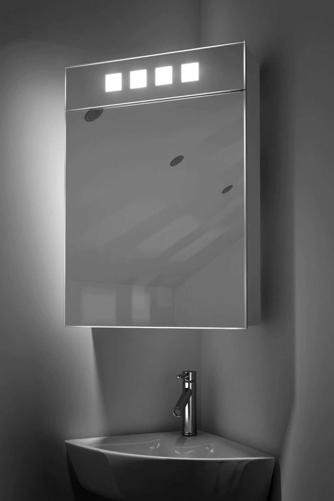 China Led Corner Cabinet Mirror With Shaver Socket 400mm Mirror Cabinet China Led Bathroom Mirror Bathroom Mirror