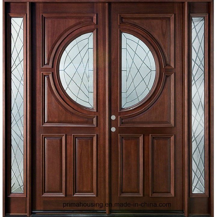 China Wooden Main Entrance Doors With Wood Frame For