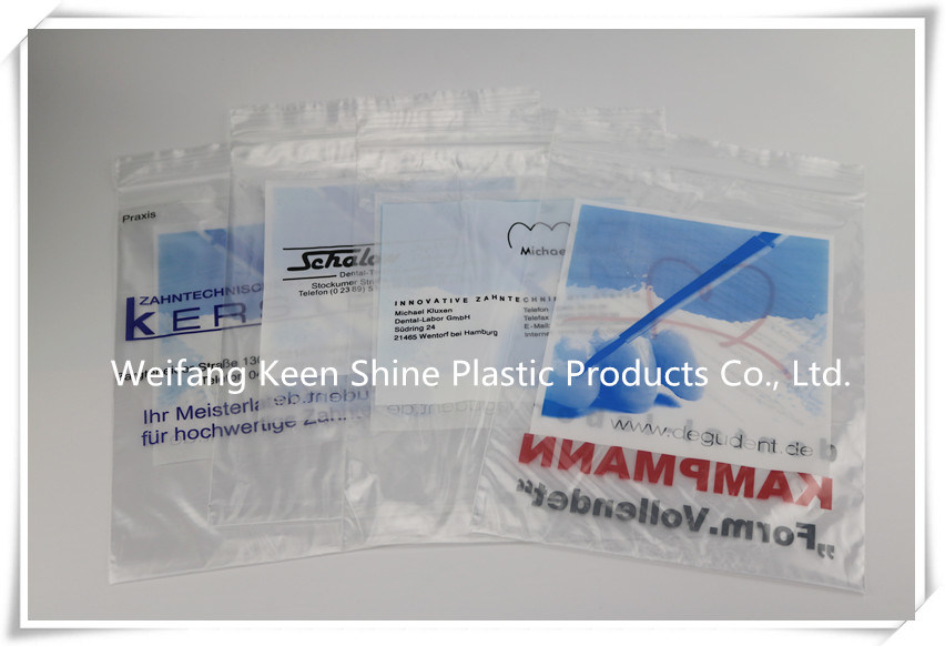 LDPE Cangaroo Reclosable/ Zipper Poly Bag