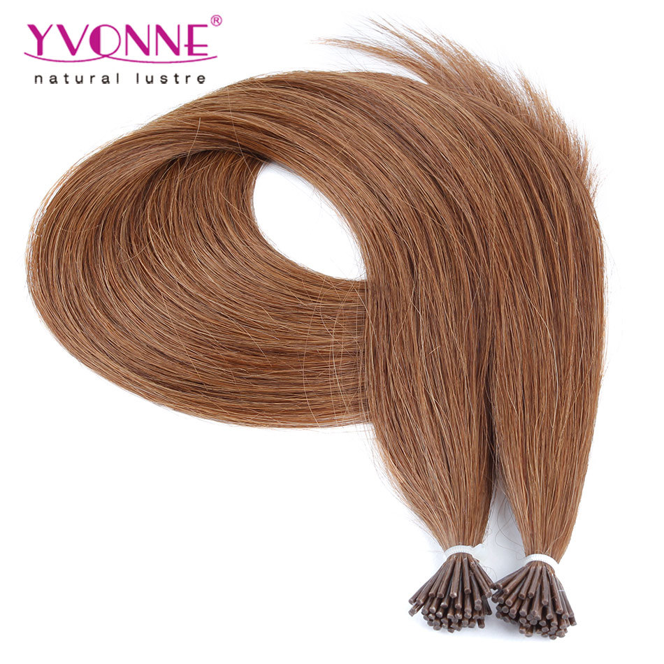 China Color 5 Pre Bonded I Tip Human Hair Extensions Photos