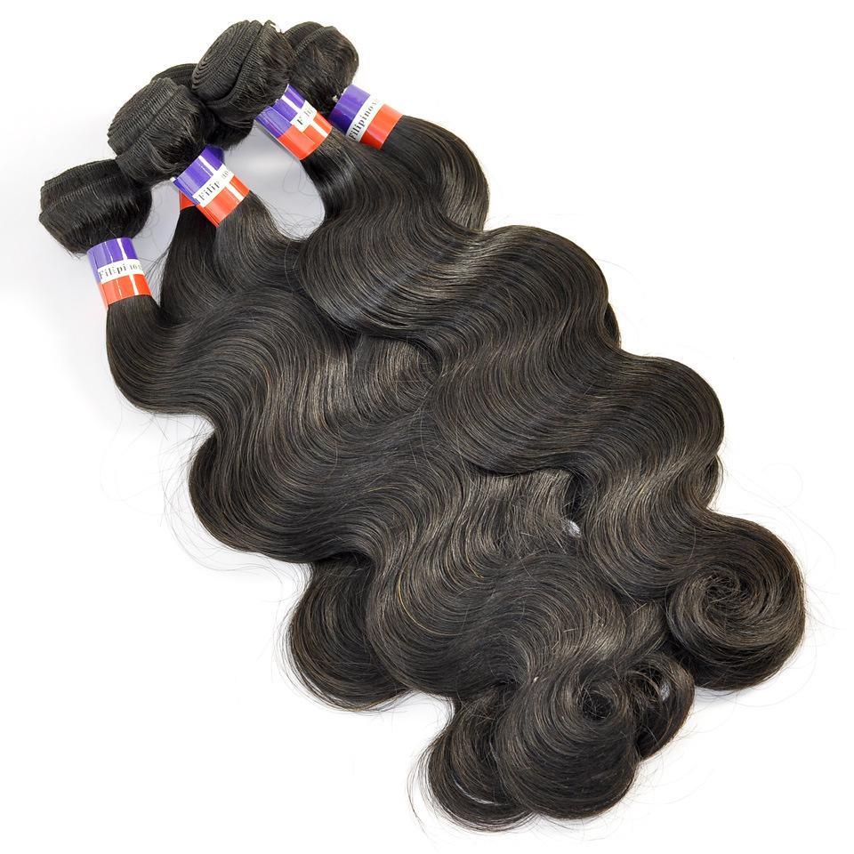 China Filipino Virgin Human Hair Extensions Body Wave Hair Weave