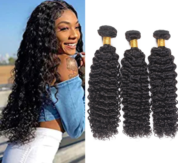 Curly Human Hair Weave 3 Bundles