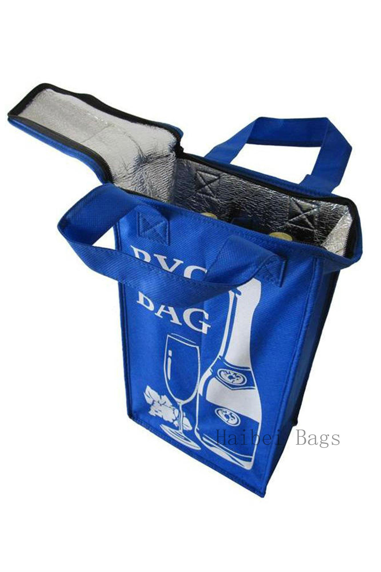 Insulated Non Woven TNT Cooler Bag, Picnic Bag, Lunch Bag, for Food, Drink Bottle, Beer Can, Ice Cooling, Shopping Box