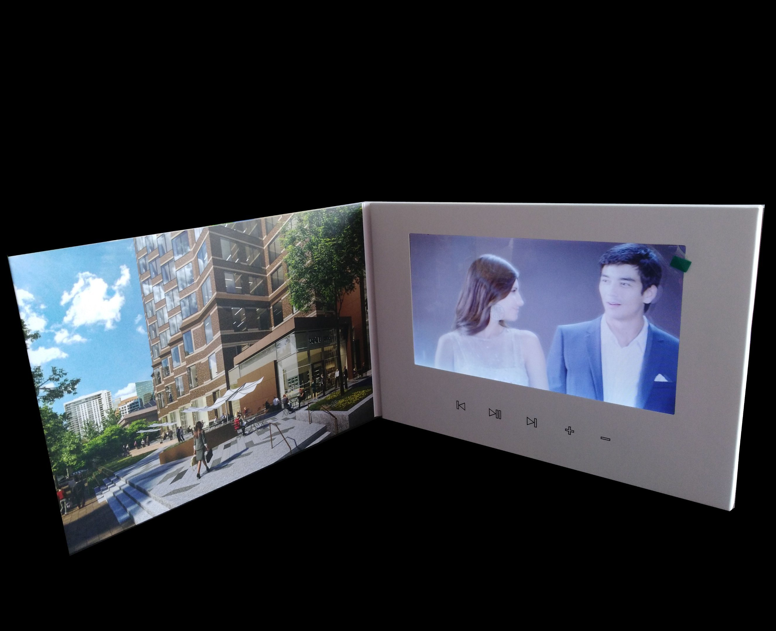 China Advertisement 70inch Lcd Screen Video Greeting Card Photos