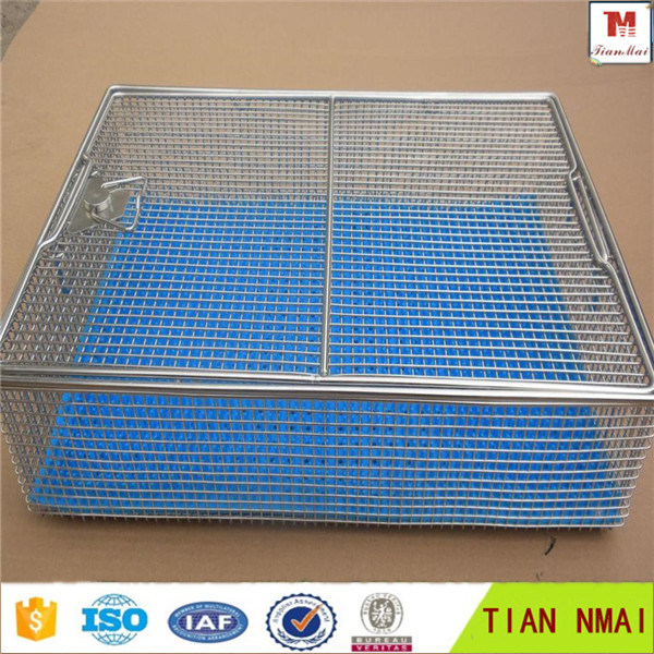 China Wire Mesh Sterilization Basket/Medical Autoclave Tray - China ...