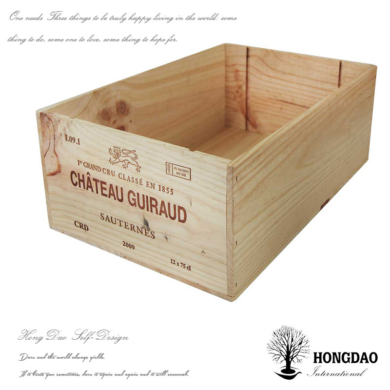 Hot Item Hongdao Custom Wooden Wine Case With Factory Price Wholesale C