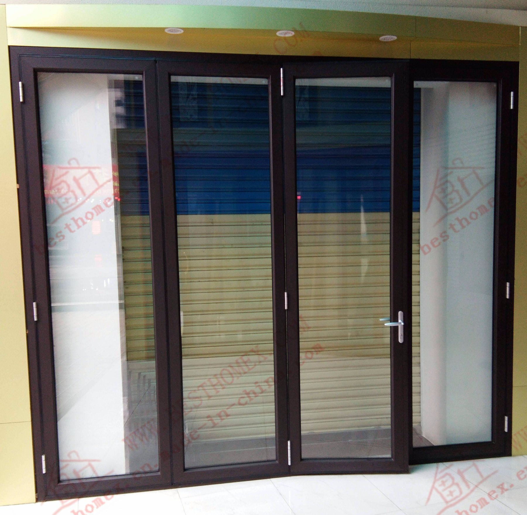 China Durable Aluminium Bifolding Door For Main Entrance Bha Dbf01