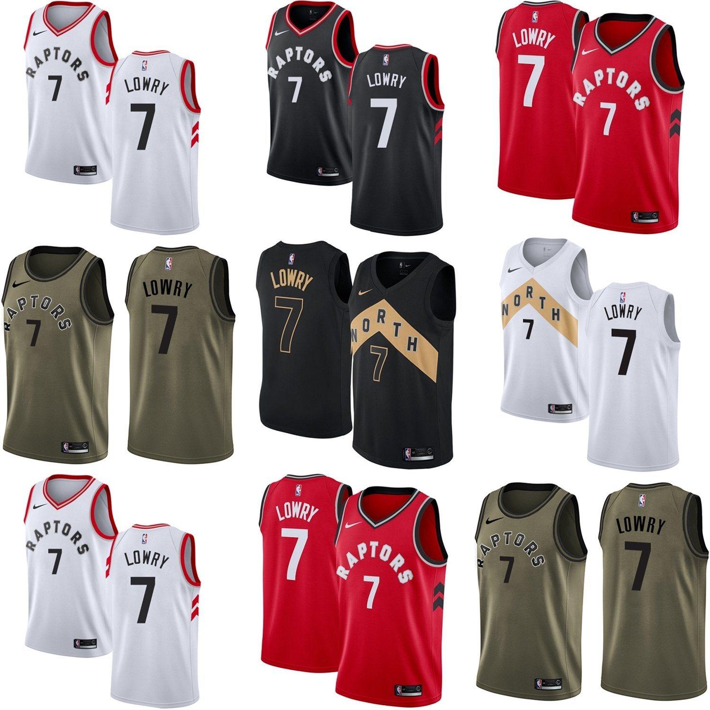 the latest fc962 bb53e [Hot Item] Toronto Raptors 7 Kyle Lowry Home Away Third Basketball Jerseys