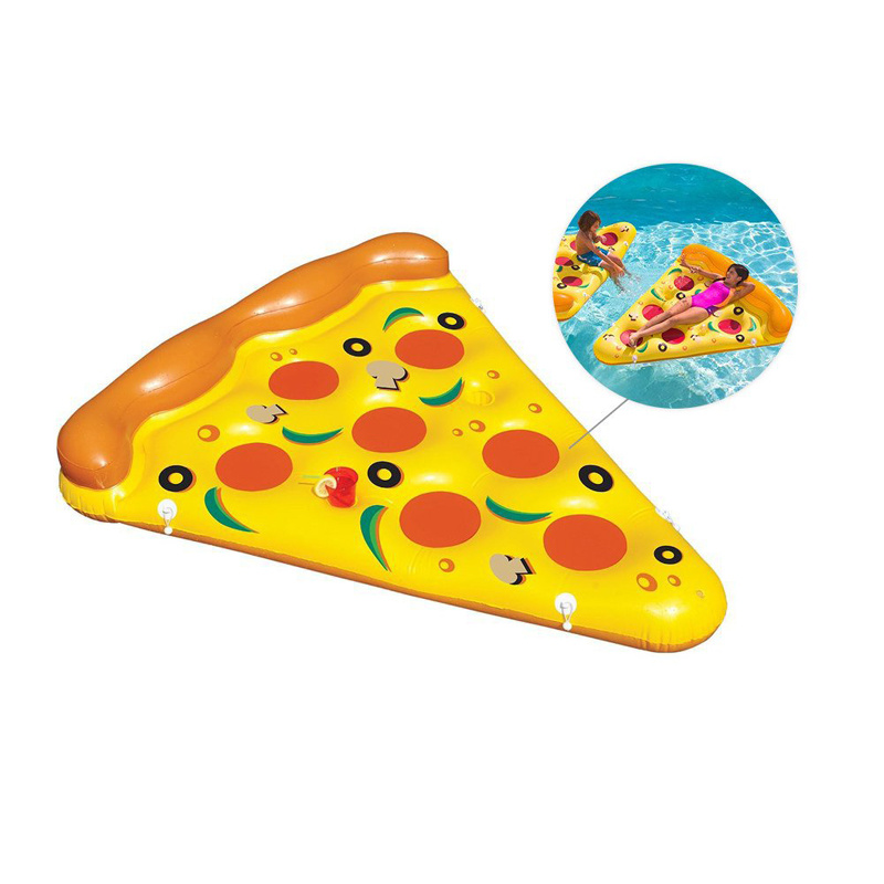 Hot Sale Summer Swim Item PVC Inflatable Pizza Pool Float