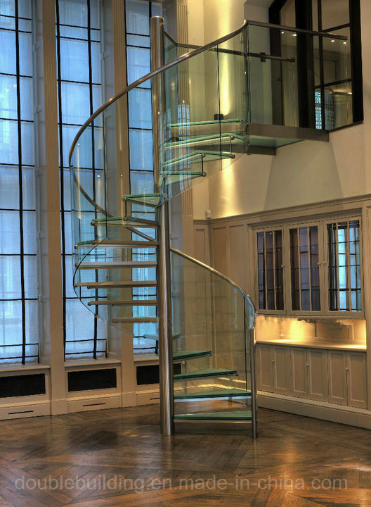 LED Glass Spiral Staircase/ Spiral Staircase/ DIY Spiral Staircase Kits