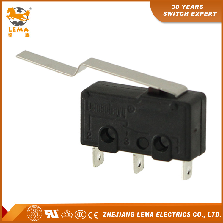 Kw12-93 Long Bent Lever Solder Terminal Subminiature Micro Switch