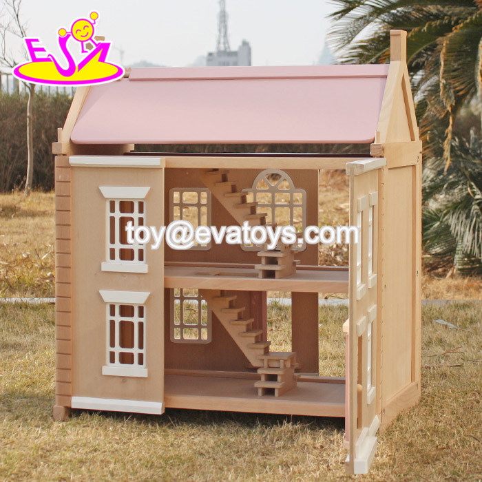 New Design Lovely Wooden Girls Dollhouse for Sale W06A237