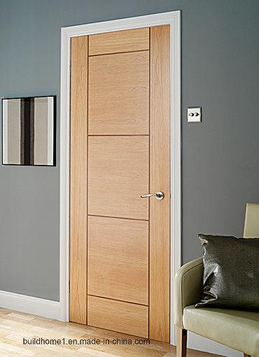 China Prehung Solid Wood Interior Doors For Internal Entrance