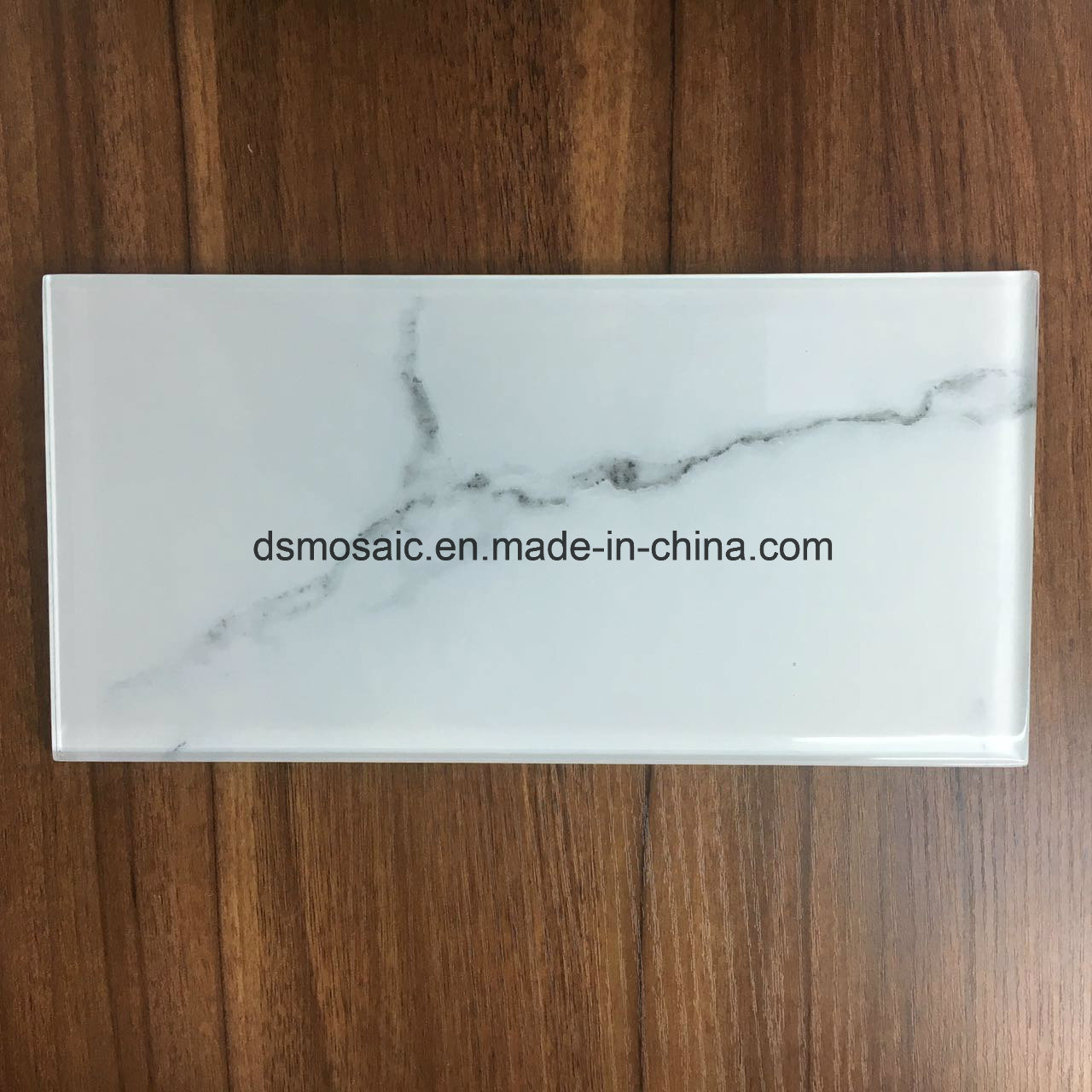 Hot Sale White Glass Mosaic Tile (Glass Brick 75*300) pictures & photos