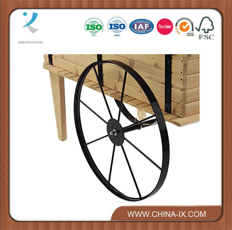 Wooden Display Cart On Wheels