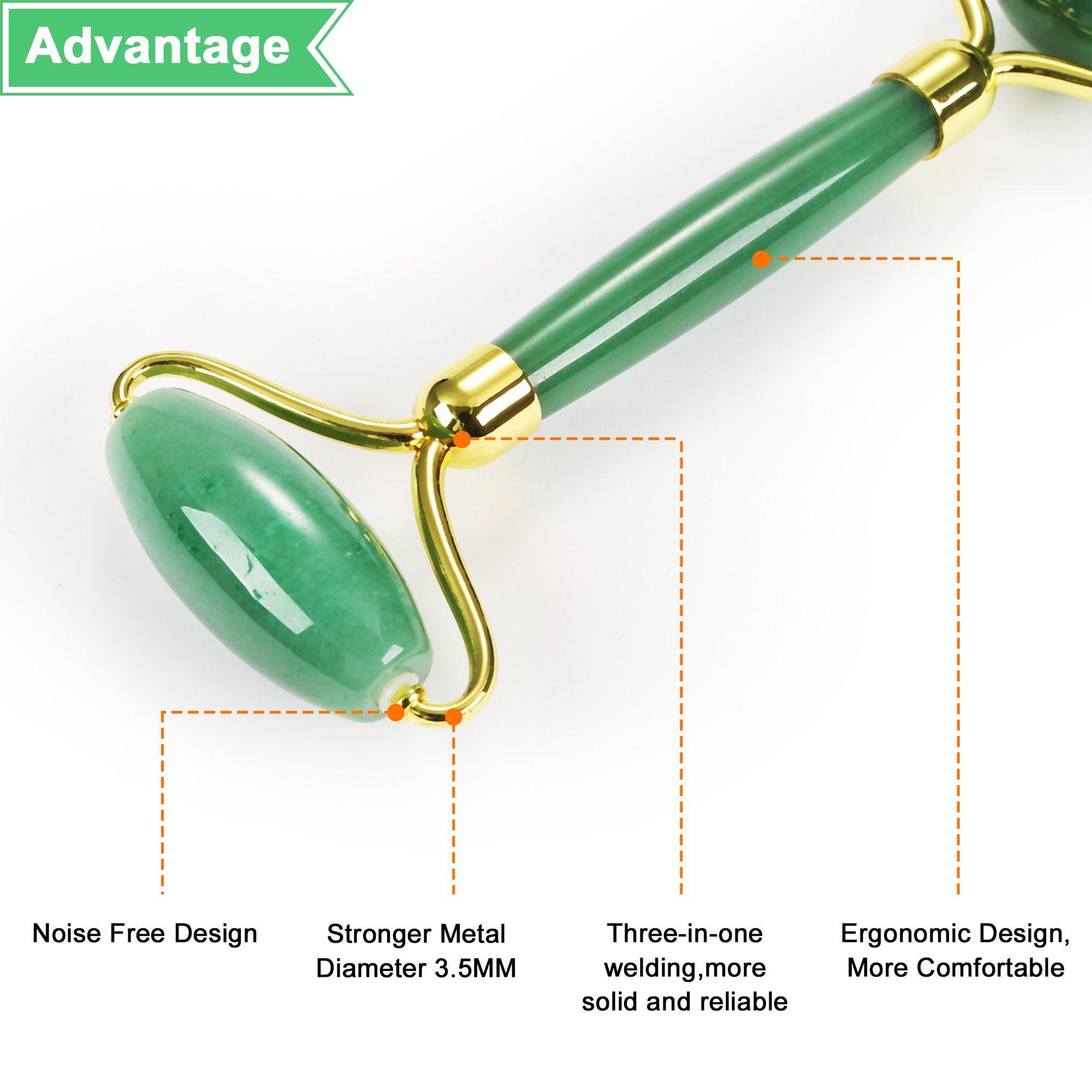 174735409d18 China Jade Roller/Face Roller & Gua Sha Scraping Massager Tool Made ...