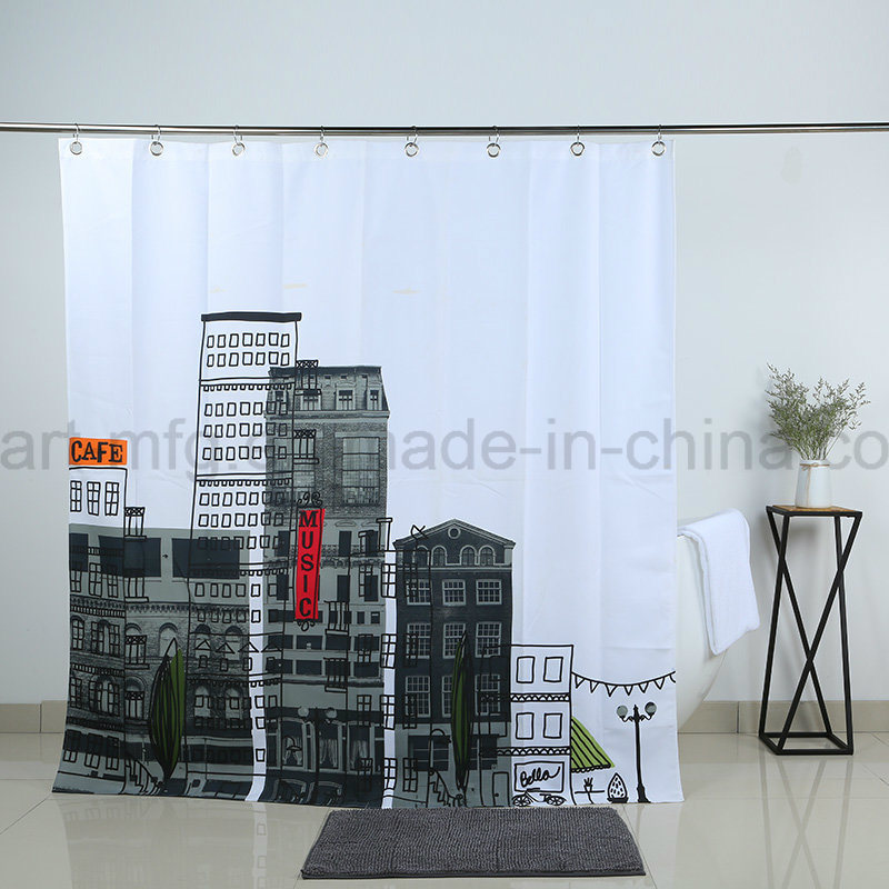 Wholesale Bathroom Shower Curtain for Modern Toilet Shower Decoration pictures & photos