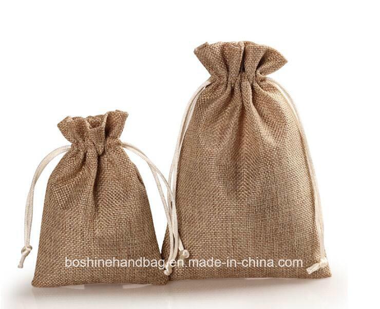 China Small Burlap Sack Coffee Bags Jute Drawstring