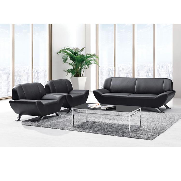 China French Type Black Pu Sofa Seating