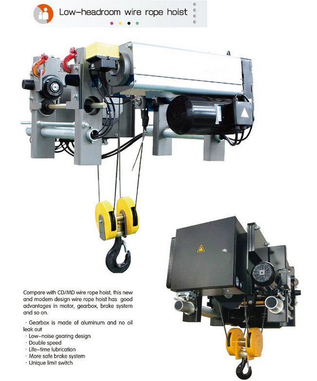 China Electric Wire Rope Hoist for Crane Europe Type Hoist 6.3t ...