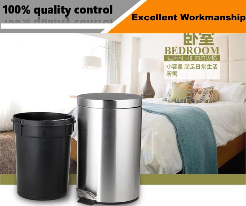 For Sale Square Stainless Steel Household Recycle Indoor Trash Can Bin
