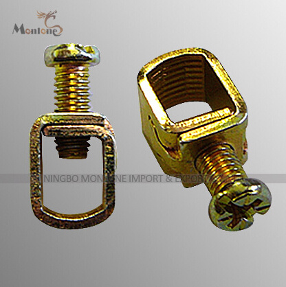 Precison Single Hole Brass Cage Clamp with Screw (MLIE-BTL003)