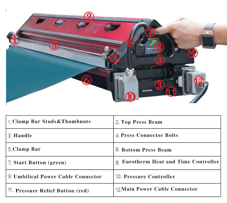 $6200 All -in-One Hot Press Machine for PVC Conveyor Belt