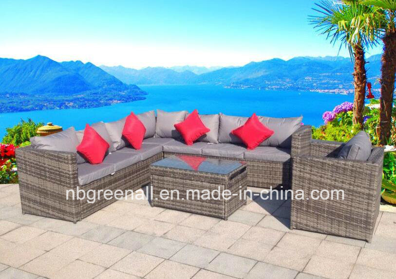 Double Layer Table Outdoor Rattan/Wicker Sofa Leisure Garden Furniture pictures & photos
