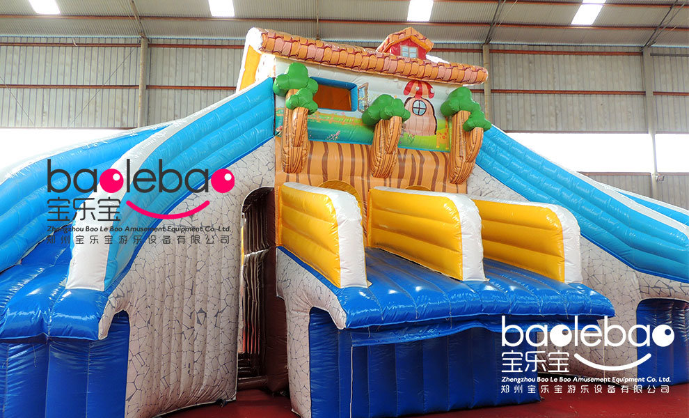 China Housing Link Inflatable Water Slide Match With Frame Pool   China  Moving Park, Kiddy Park