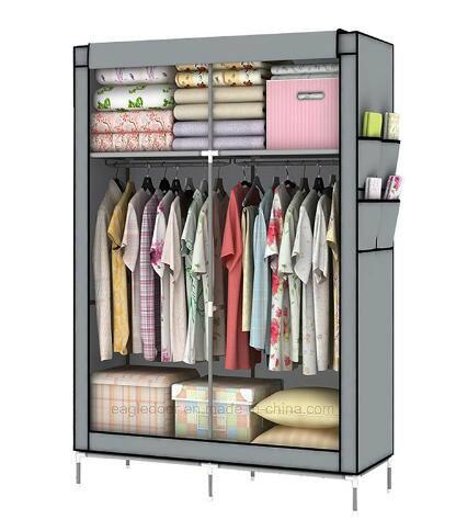 china diy assamble simple folding reinforcement portable clothes Diy Clothes Storage
